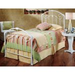 White Cottage Style Twin Metal Bed- Maddie