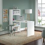 White Craft Table and Bookcase (56 Inch) – Echo