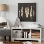 White Cubby Storage Bench – Vito