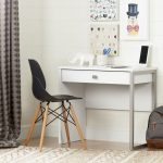 White Desk with 1 Drawer – Interface