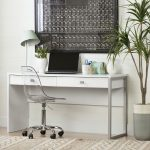 White Desk with 2 Drawers – Interface