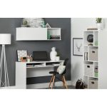 White Desk with Wall Mounted Storage – Interface
