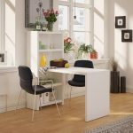 White Dining Table and Bookcase (56 Inch) – Echo
