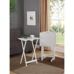 White Field Wooden Tray Tables