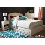 White Full Mates Bed with 3 Drawers (54 Inch)- Country Poetry