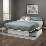 White Full/Queen Platform Bed with Drawers – Gramercy