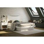 White Full Size Platform Bed (54 Inch) – Basic