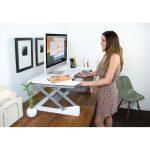 White LIFT35 Sit-Stand Desk