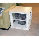 White Modern End Table – Kingston