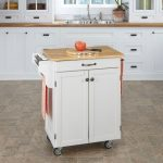 White/Natural Kitchen Cart