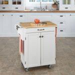 White/Natural Kitchen Cart