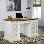 White Pedestal Desk – Americana