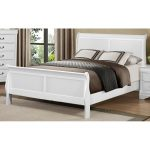 White Queen Size Sleigh Bed – Mayville