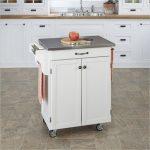 White/Stainless Kitchen Cart