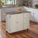 White Stainless Top Kitchen Cart – Liberty