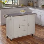 White Stainless Top Kitchen Cart – Patriot