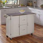 White Stainless Top Kitchen Cart – Patriot