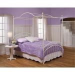 White Traditional Full Canopy Bed – Emily