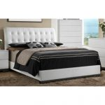 White Tufted Queen Size Upholstered Bed – Avery
