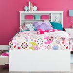 White Twin Mates Storage Bed & Bookcase Headboard – Vito