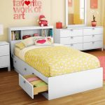 White Twin Storage Bed with 3 Drawers and Headboard – Spark