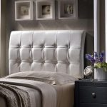 White Upholstered Twin Headboard – Lusso