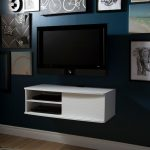 White Wall-Mounted Media Console (38 Inch) – Agora
