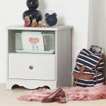 White Wash Single Drawer Nightstand – Caravell