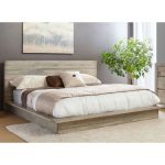 White-Washed Modern Rustic California King Platform Bed – Renewal