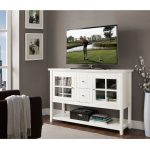 White Wood Table TV Stand