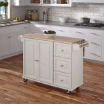 White Wood Top Kitchen Cart – Liberty