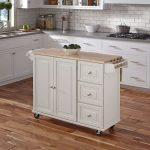 White Wood Top Kitchen Cart – Liberty