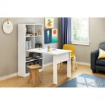 White Work Table & Storage Unit Combo – Annexe