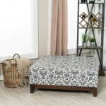 White and Black Floral Paisley Fielding Large Square Ottoman – Berkley