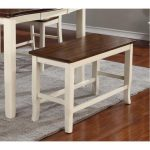 White and Cherry Counter Dining Bench – Dover