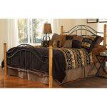 Winsloh Metal & Oak King Size Bed