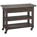 Wood/Concrete Kitchen Cart