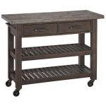 Wood/Concrete Kitchen Cart