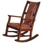 Wood & Microfiber Rocking Chair – Sedona