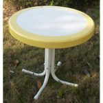 Yellow Metal Round Table