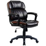 Dark Brown Ergonomic Mid-Back Office Chair