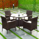 5 pcs PE Ratten Outdoor Furniture Set