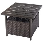Outdoor Patio Rattan Side Table