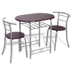 3 pcs Bistro Dining Table and Chairs Set
