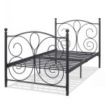 83″ x 43″ x 42″ Black Twin Size Steel Bed Frame