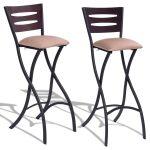 Set of 2 Folding Counter Bar Stools Pub Chairs