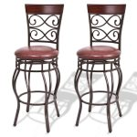 Set of 2 Swivel Padded Bar Stools