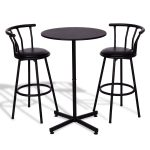 3 pcs Bar Table Set with 2 Stools