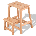 2-Tier Solid Wood Folding Step Stool