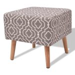 Square Stool Seat with 4 Wooden Solid Legs